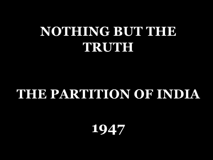 the partition of 1947 was inevitable He protested to mountbatten in 1947 when the congress decided, rightly,  the partition of punjab was inevitable if india was to be partitioned,.